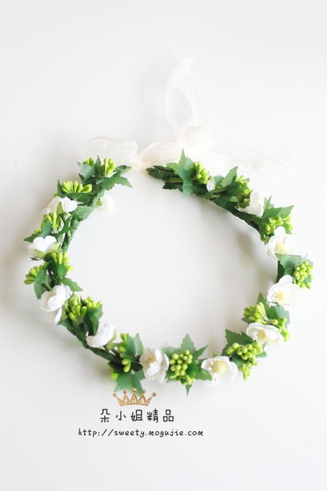 绿色小清新花环