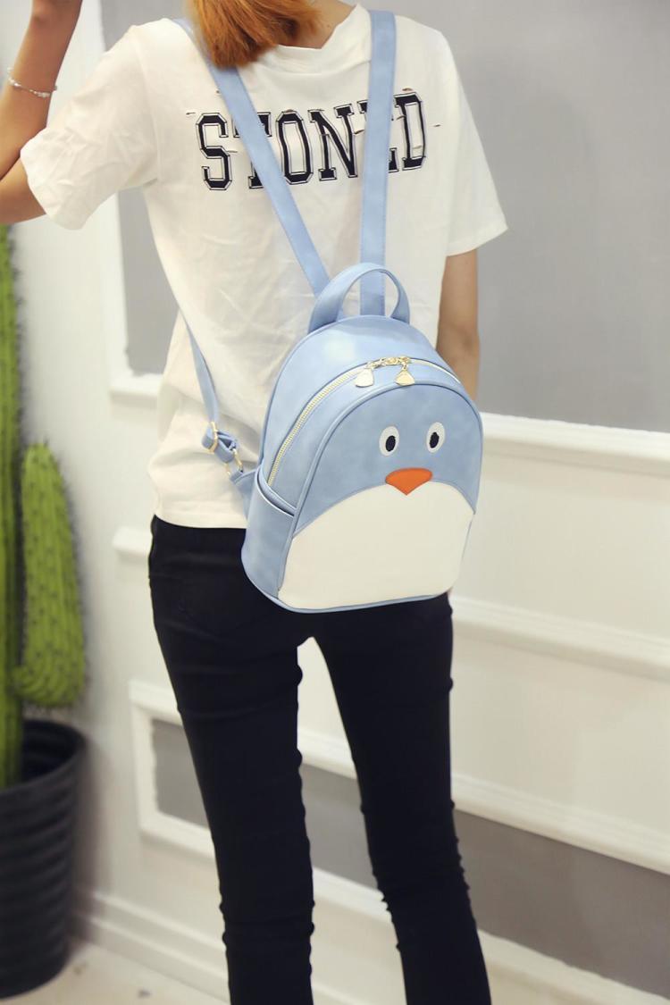 萌萌哒卡通可爱小企鹅双肩包