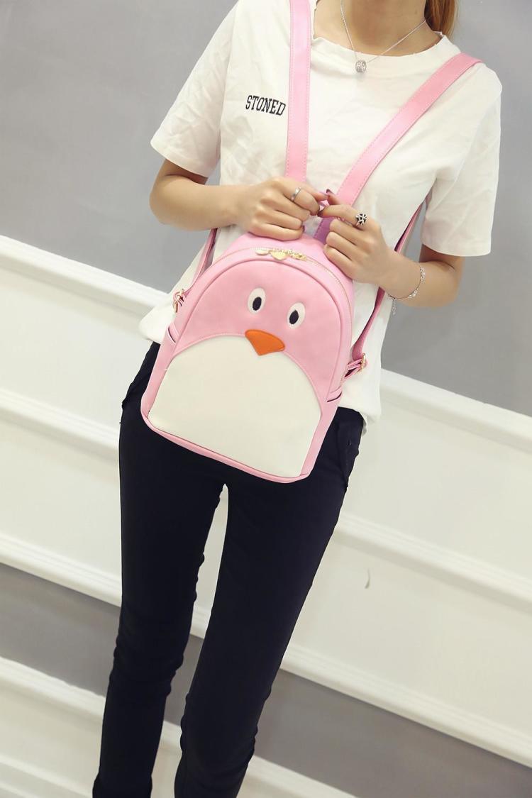 【萌萌哒卡通可爱小企鹅双肩包】-包包-双肩包