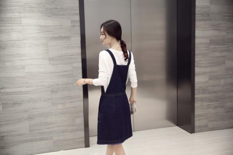 夏季清新韩版可爱甜美牛仔背带裙连衣裙女