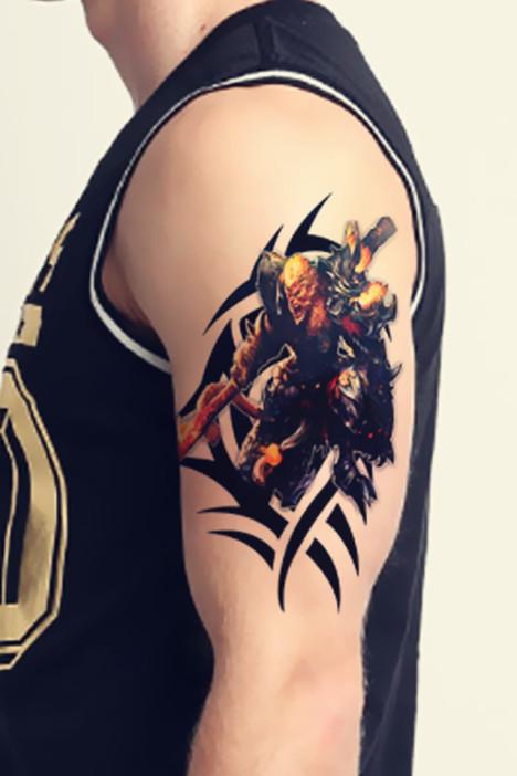 【【第2件半价】英雄联盟lol猴子花臂防水纹身贴纸】图片图片