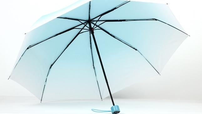 渐变百搭糖果色雨伞情侣晴雨伞