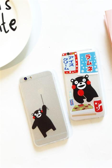 【可爱日本熊苹果6s plus手机壳】-配饰-3c数码配件
