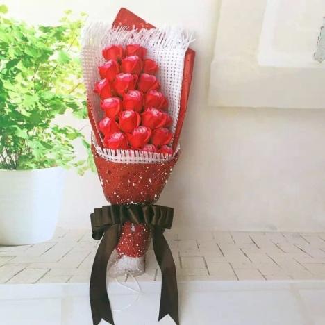 玫瑰花香皂花肥皂花束高档礼盒礼物包邮