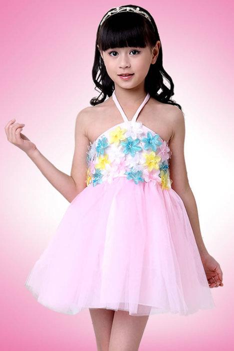 六一儿童演出服 女童表演服装亮片 幼儿园舞蹈公主裙 主持人礼服