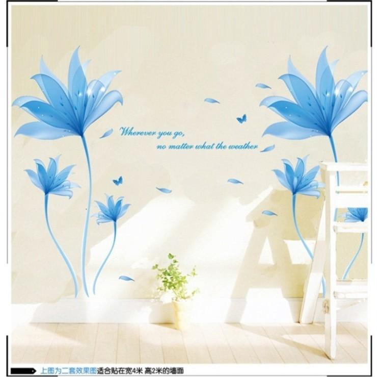 【玫瑰花朵可移除墙贴】-家居-贴饰