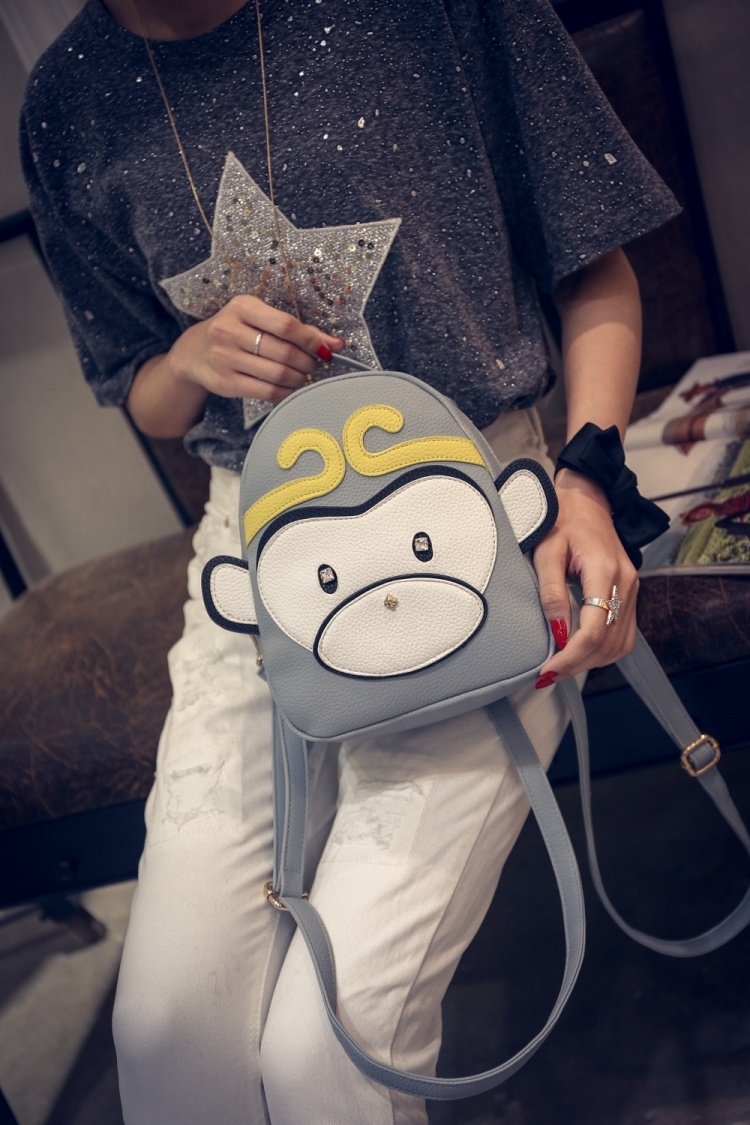 【潮包1号店&可爱小猴子卡通双肩包】-衣服-双肩包