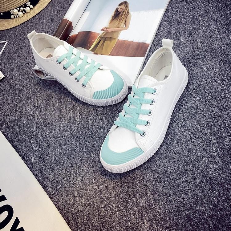 【日韩系原宿文艺复古黑白韩版韩国手绘系带帆布鞋鞋