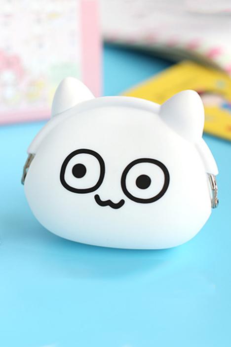 【魔性小人硅胶猫耳零钱包】-null-百货