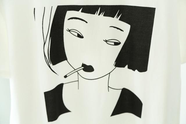 【萌萌哒】韩国原宿古着元气少女头像印花圆领短袖t恤女学生班服