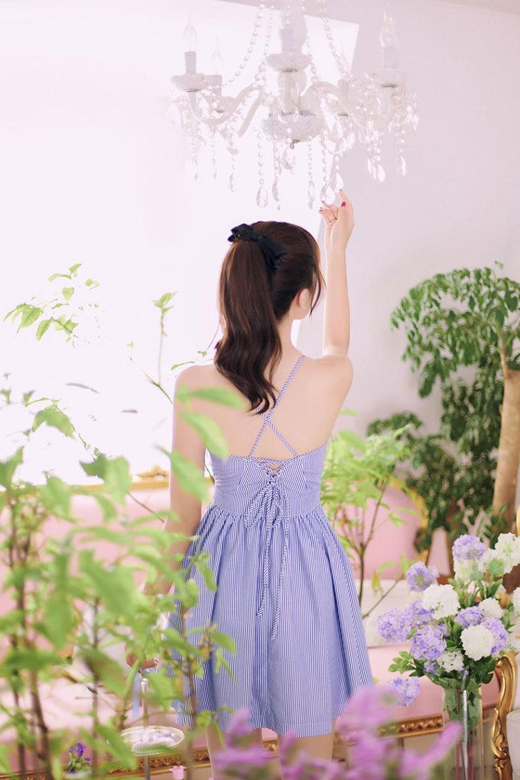 【韩国代购2016夏装新款修身甜美小清新时尚套装】