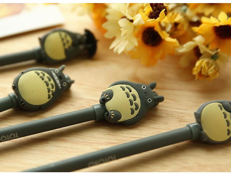 6只装 可爱龙猫造型中性笔