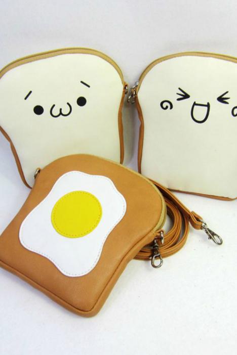 预售日系ulzzang原宿荷包蛋单肩斜跨包创意可爱手机零钱包