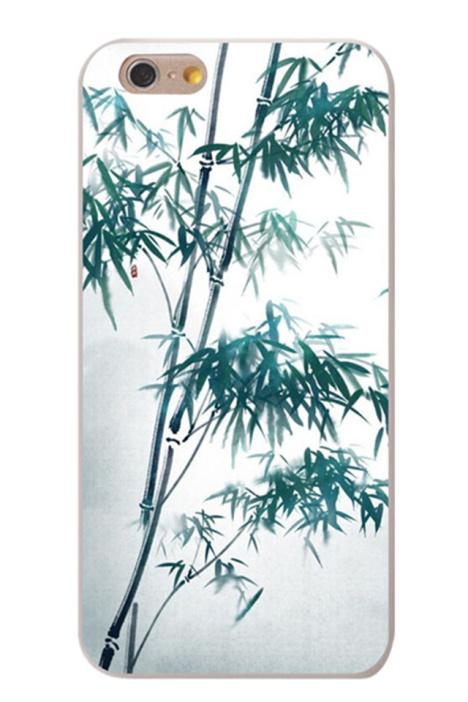 简约中国风竹子叶子iphone6plus手机壳6s苹果5se
