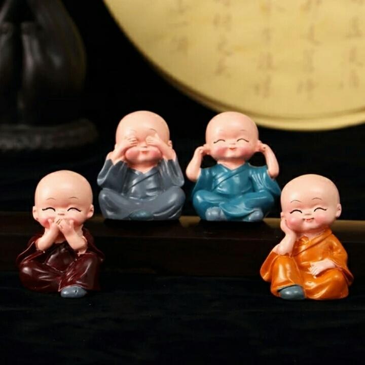 创意人物家居房间装饰品摆设可爱小和尚客厅摆件摆饰陶瓷工艺品