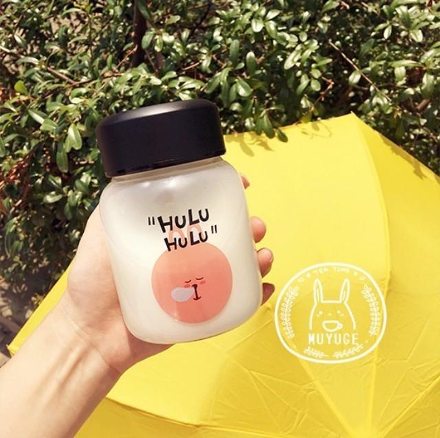 【韩国夏季可爱卡通小熊小兔子透明迷你玻璃杯软妹】