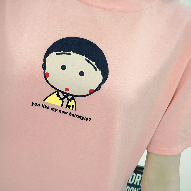 粉红手绘t恤图案