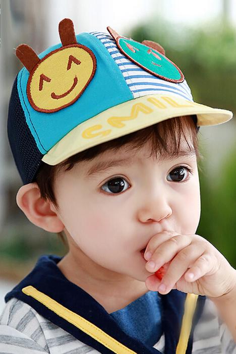 tutuya男女儿童帽子夏天太阳帽1-2岁宝宝纯棉鸭舌网眼帽