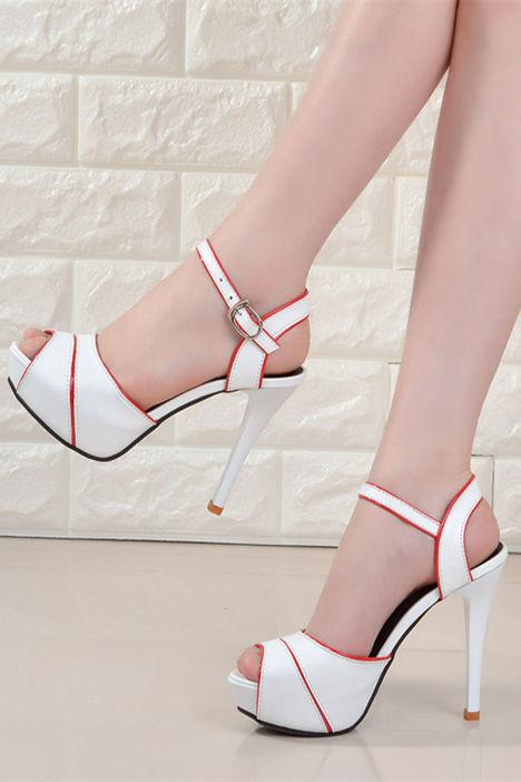 性感,一字扣带,细跟,高跟鞋,凉鞋