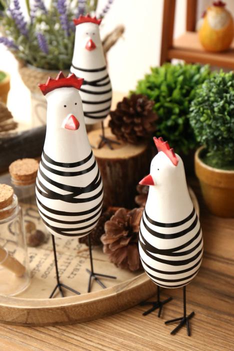 【田园复古卧室桌面创意木质小鸡摆件软装饰奶茶店】