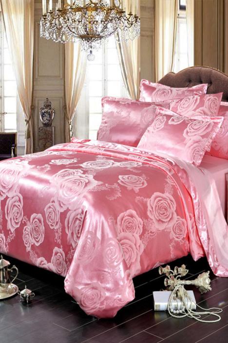 四件套纯棉全棉,家居家纺4件套,欧式贡缎提花,四件套简约宜家,床单款