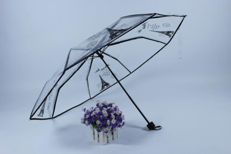 巴黎铁塔雨伞风景