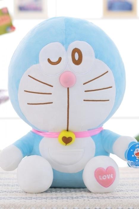 【正版~毛绒玩具可爱甜心叮当猫公仔】-null-百货