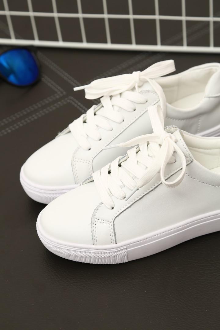 包邮韩版原宿ulzzang明星同款小白鞋子图片