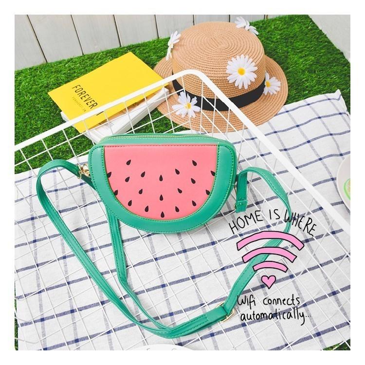 可爱卡通水果包菠萝草莓柠檬西瓜橙子包小清新单肩斜跨小包包
